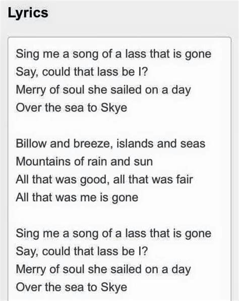 Boat Song To Skye by 1000 Images About Outlander On Pinterest Highlanders