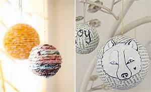 Styropor Selber Machen : selber machen weihnachtskugeln aus zeitungspapier himbeer magazin ~ Markanthonyermac.com Haus und Dekorationen
