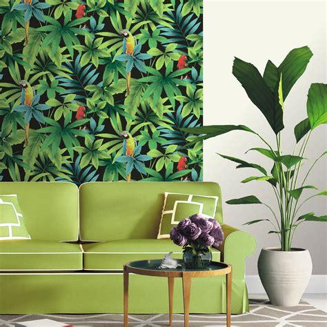 papier peint papier perroquet vert leroy merlin