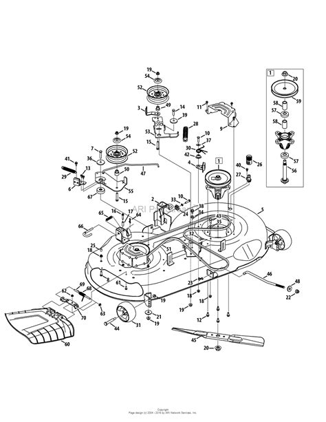 troy bilt 13yx79kt011 xp 2015 parts diagram for mower deck