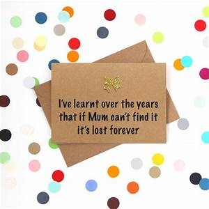 'lost forever' funny mother's day card by bettie confetti ...