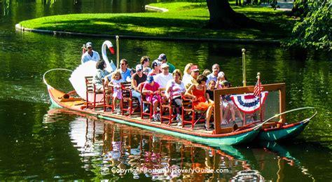 Swan Boats Boston Public Garden by Boston Swan Boats Top Attraction Boston Discovery Guide