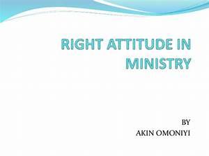 Right attitude in ministry