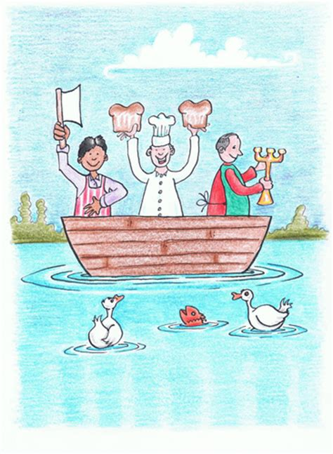 Boat Maker Cartoon by Three Men In A Boat By Kerina Strevens Media Culture