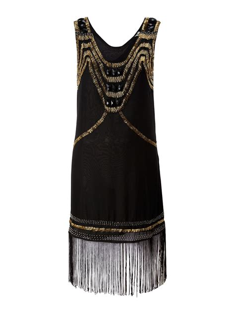 true decadence deco flapper dress in black lyst