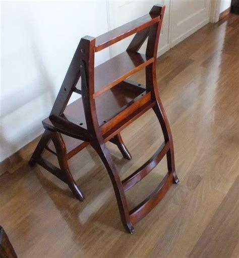 chaise escabeau de biblioth 232 que en bois d acajou angleterre 233 es 70 catawiki