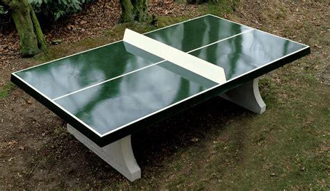 table de ping pong d ext 233 rieur verte en b 233 ton heblad