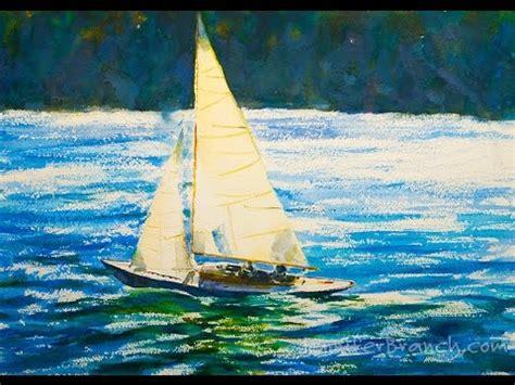 Sailboats Videos by Watercolor Painting Tutorial Sailboat Youtube