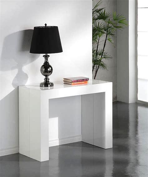 table console extensible blanc laque design