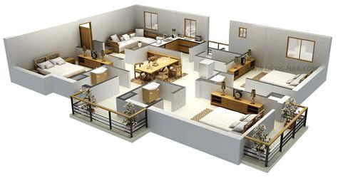 Home Decor 3d Models : Impressive Floor Plans In 3d