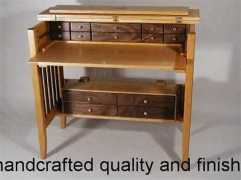 handcrafted fly tying desk