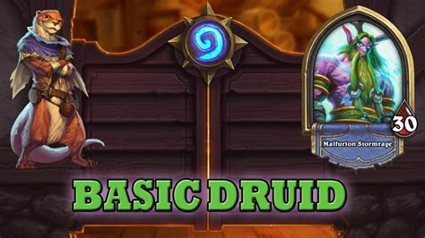hearthstone deck guide starter druid basic cards only doovi