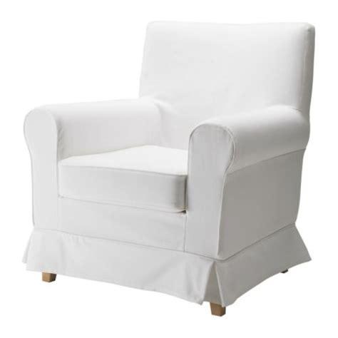Ektorp Chair Cover Blekinge White fabric armchairs ikea