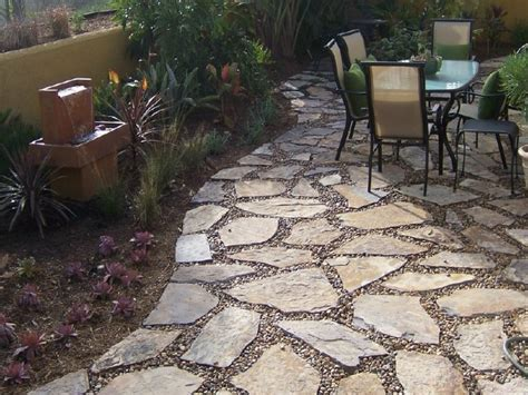 Pea Gravel Patio Designs by Patio Design Landscaping With Pea Gravel Flagstone