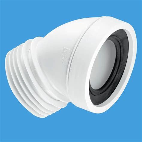 mcalpine toilet pan connector 45 degree angled plumbers mate ltd