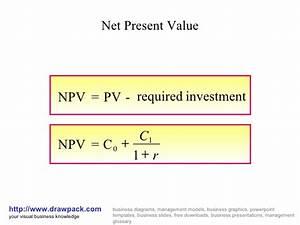 Net present value business diagram