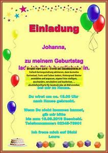 Einladung Kindergeburtstag Gestalten : einladungskarte zum kindergeburtstag selbst gestalten ~ Markanthonyermac.com Haus und Dekorationen