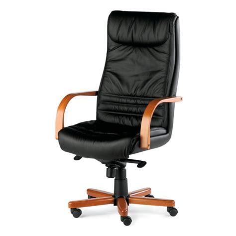 fauteuil pr 233 sident cuir et bois kerlouan lemondedubureau