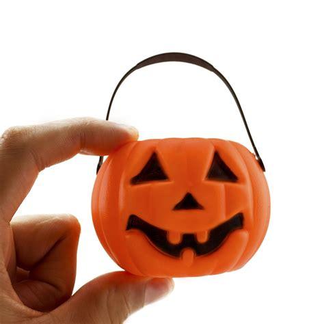6 pc mini plastic pumpkin o lantern buckets prop ebay