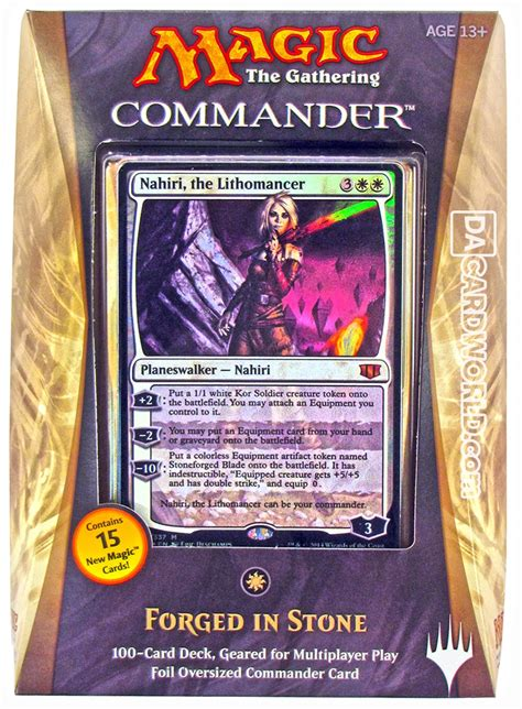 magic the gathering commander deck 2014 forged in white da card world