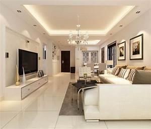 Decken Dekoration Wohnzimmer : abgeh ngte decke mit indirekter beleuchtung als dekoration ~ Markanthonyermac.com Haus und Dekorationen