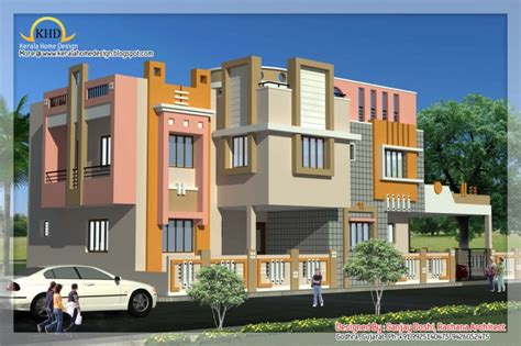Modern Beautiful Duplex House Design