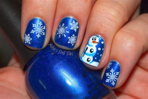 Cute And Long Blue Nail Designs For Winter (ideas And 20