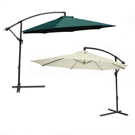 3 5m large cantilever hanging garden parasol sun shade