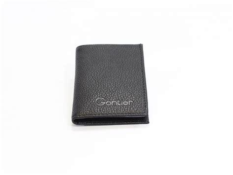 porte carte compact en cuir noir pour homme ou femme porte carte cuir 116