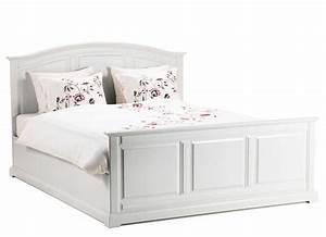 Landhaus Betten Holz : ikea betten 160x200 mit rahmen aus holz f r wei en schlafzimmer bett ideen ~ Markanthonyermac.com Haus und Dekorationen