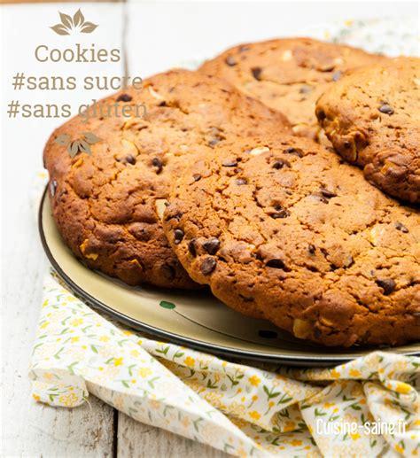 maxi cookies sans sucre blanc et sans gluten cuisine saine sans gluten sans lait