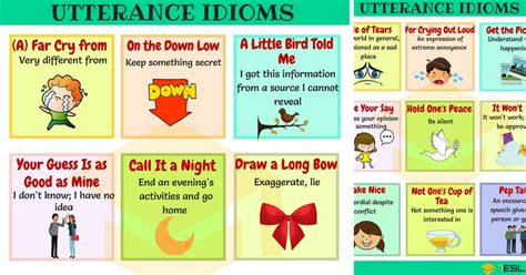 List Of 90+ Useful Utterance Idioms You Should Know  7 E S L