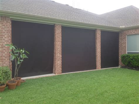 manual roll up patio shades american sunscreens by signature shutters of houston