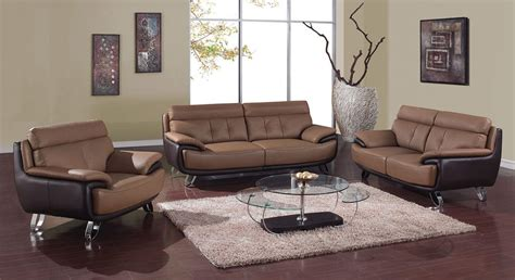 leather living room sets contemporary brown bonded leather living room set st