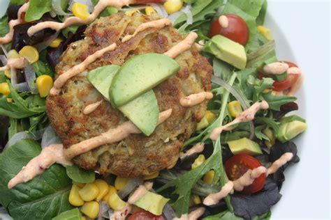 crab cake salad crab cake summer salad the gourmand