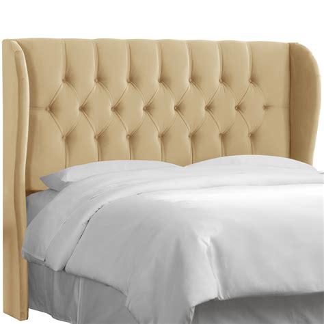 skyline furniture tufted velvet nail button upholstered headboard reviews wayfair