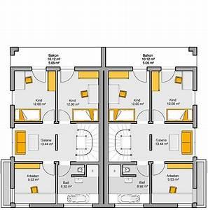 Grundriss Doppelhaushälfte Seitlicher Eingang : fertighaus doppelhaus gemello fd 280 grundriss og 1 doppelhaush lfte pinterest haus haus ~ Markanthonyermac.com Haus und Dekorationen