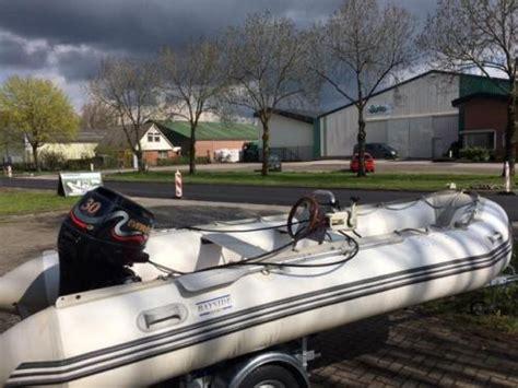 Rubberboot Met Stuur Zonder Motor by Rubberboot Bayside Sport 470 Met Evinrude 30 Pk