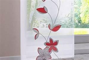 Schiebegardinen Weiß Mit Muster : 2 st schiebegardine 57 x 145 weiss rot schiebevorhang klettschiene neu ebay ~ Markanthonyermac.com Haus und Dekorationen