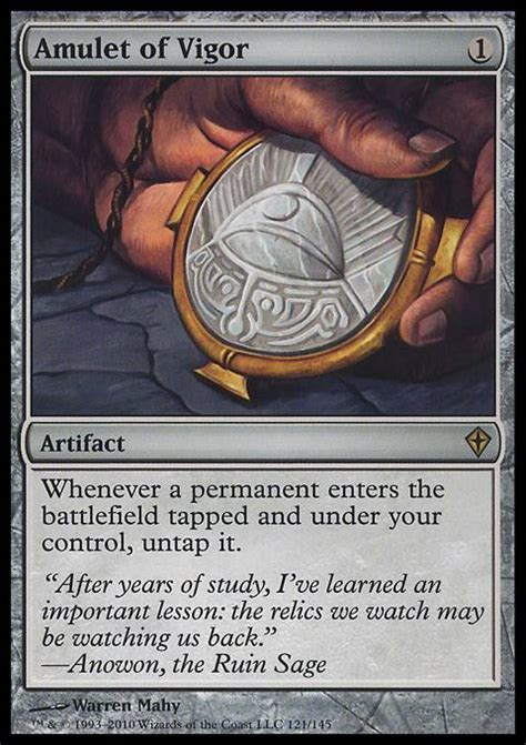 amulet of vigor wwk mtg card