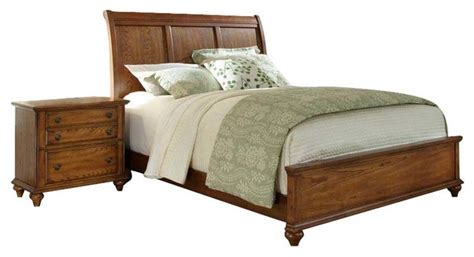 broyhill hayden place sleigh bed 2 bedroom set in oak transitional beds by cymax