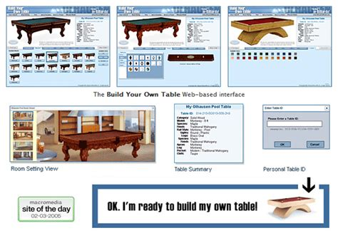 Olhausen Build Your Own Pool Table (byot) On Wacom Gallery