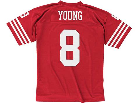 San Francisco 49ers 8 Steve Young Throwback White Jersey