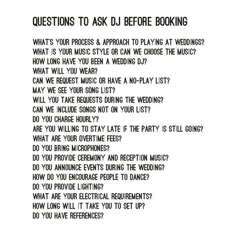 Questions To Ask The Dj Before Booking Bexbernard