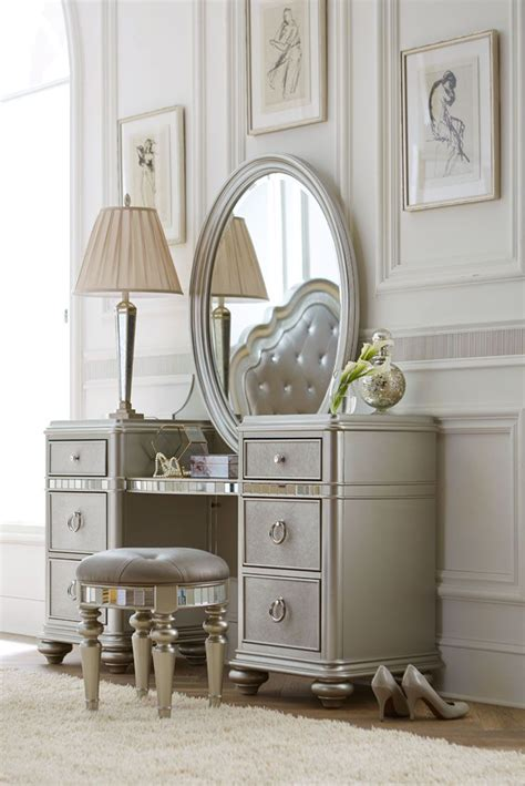 vanity modern white wooden dressing with framed mirror also cheap bedroom vanities sets set