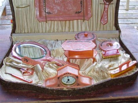 antique pyralin vanity dresser set vintage chic exquisite rom