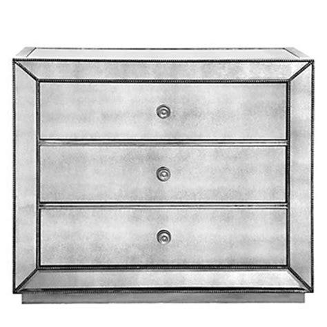 omni mirrored 3 drawer chest porter cerulean