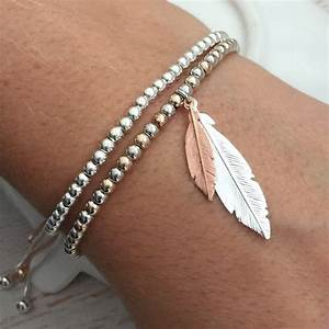Rose Gold Wandfarbe : rose gold and silver duo feather bracelet ~ Markanthonyermac.com Haus und Dekorationen