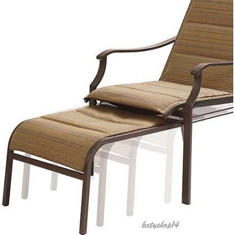 Patio Chair With Ottoman by Patio Chair Pull Out Ottoman Padded Sling Chair Reclining