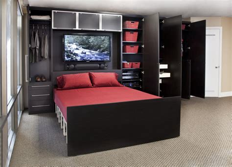 zoom room wall bed custom cabinetry contemporary home theater san francisco by valet